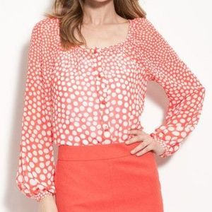 Trina Turk Lucinda Dot Gradient Georgette Top #346